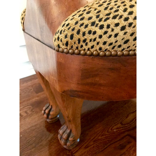 Vintage Maitland-Smith Cat Ottoman For Sale In San Diego - Image 6 of 7