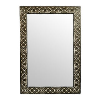 Moroccan Wood Inlay Mirror Large For Sale