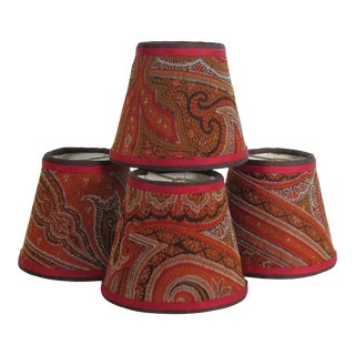 Antique Paisley Lampshades - Set of 4 For Sale