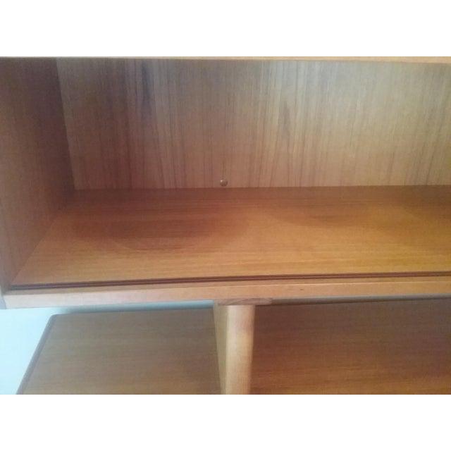 Dyrlund Scandinavian Teak Tambour Storage Sideboad & Dislay Cabinet ( 2 Pieces) - Image 4 of 6