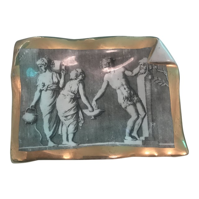 Vintage Fornasetti Milano for Bonwit Teller Tray Dish For Sale
