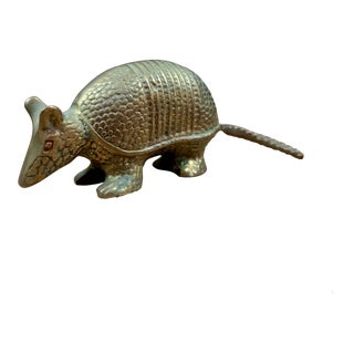 Vintage Brass Armadillo Figurine / Paperweight For Sale