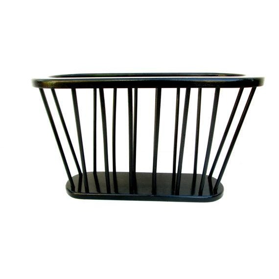 Mid-Century Ebonized Teak Magazine Rack - Image 2 of 5