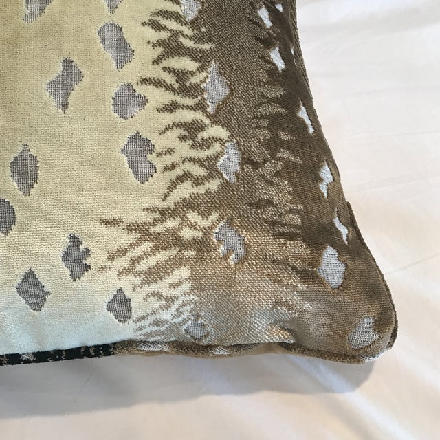 Belgian Old World Weavers Silk Cut Velvet Antelope Pillow For Sale - Image 3 of 7