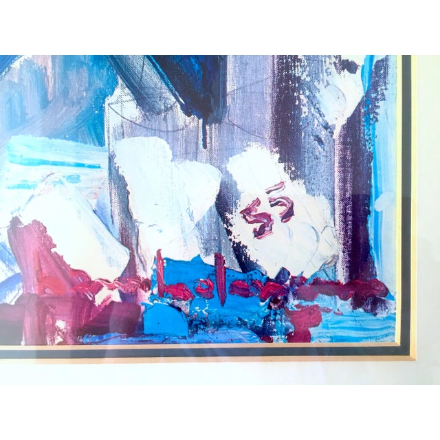 """Hans Hofmann Rare Vintage 1968 Mid Century Modern Abstract Expressionist Framed Collector's Lithograph Print """" Exuberance """" 1955 For Sale In Kansas City - Image 6 of 13"""