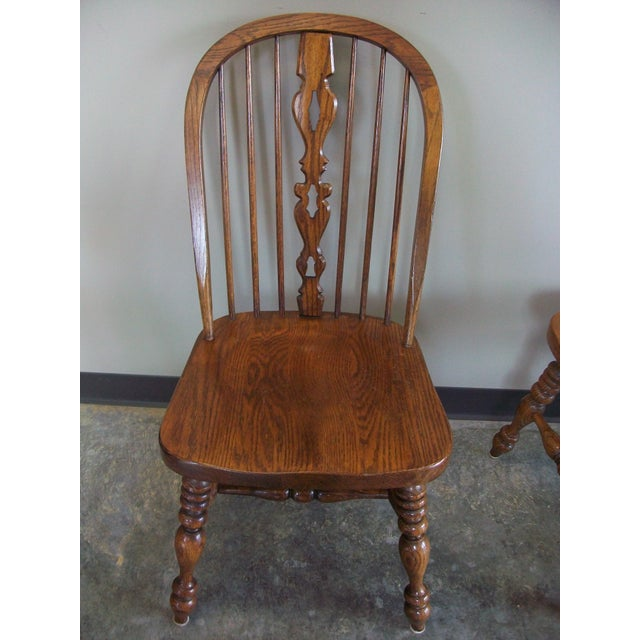 Ethan Allen Royal Charter Bowback Windsor Dining Chairs - Set of 4 - Image 6 of 7