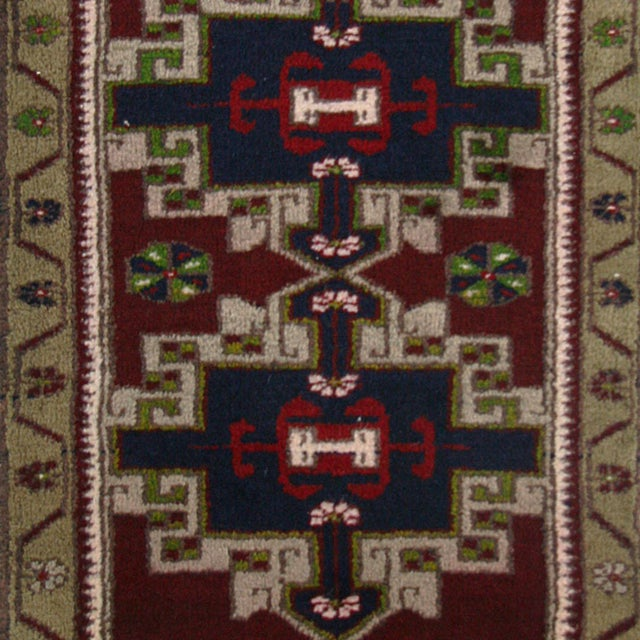 Vintage Geometric Turkish Yastik Rug - 1′9″ × 2′10″ - Image 2 of 2