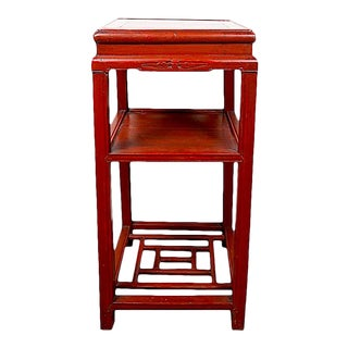 19th Century Chinese Table Red Side Table
