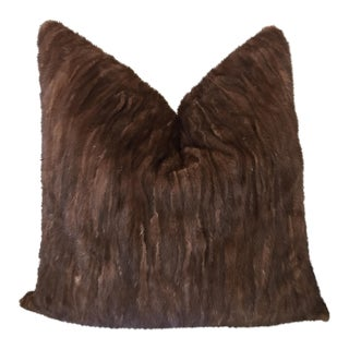 Modern Brown Mink/Cashmere Decorative Pillow - 22x22 For Sale