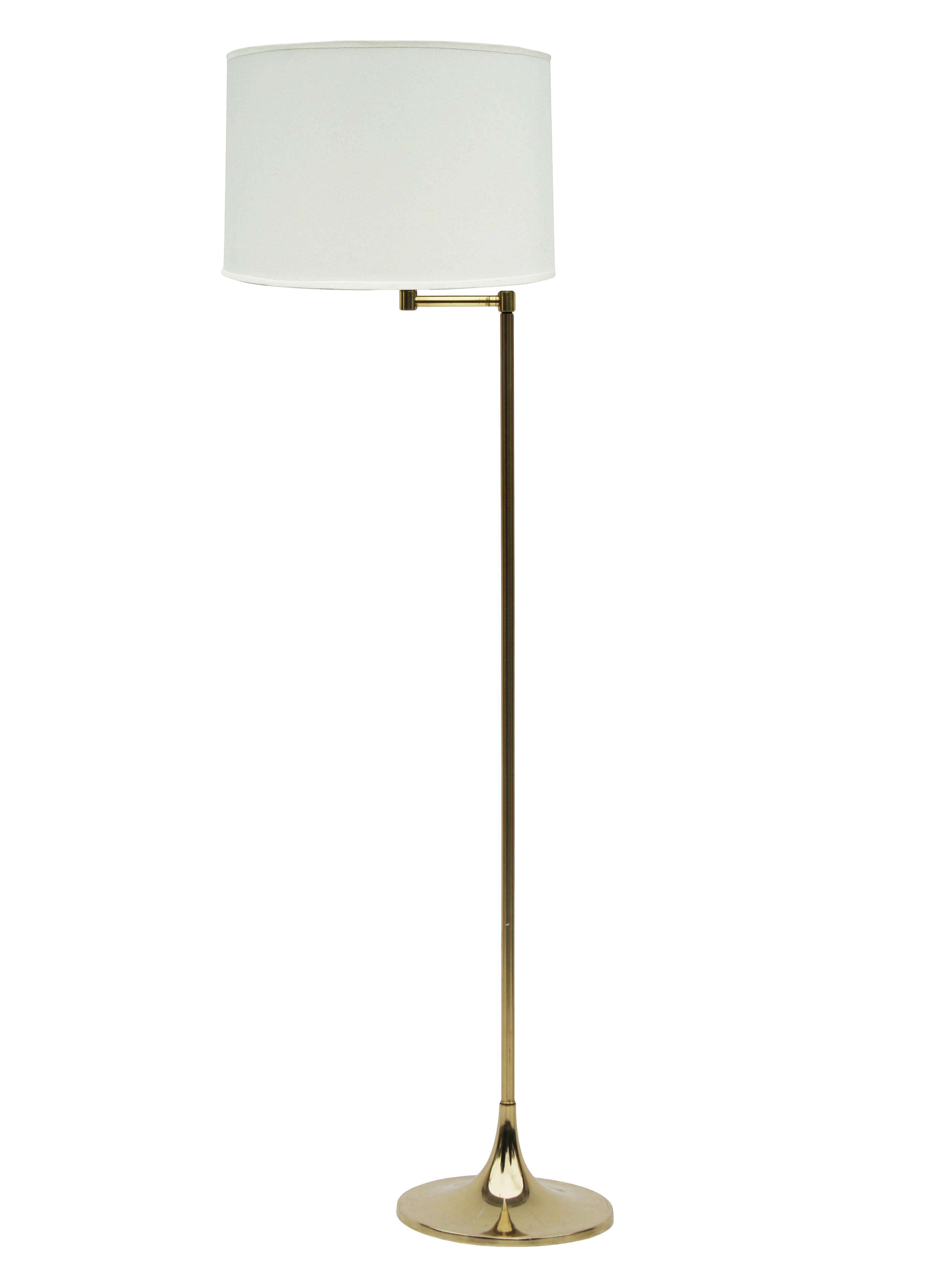 Laurel Brass Tulip Floor Lamp With Swing Arm