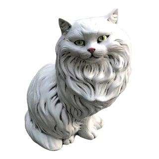 Vintage Boho Ceramic Cat Figurine For Sale