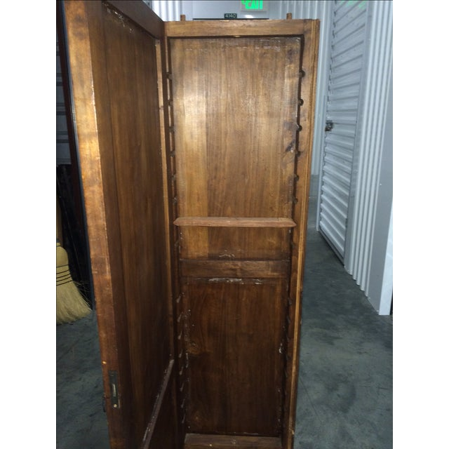 Antique Hand-Carved Italian Revival Armoire - Image 7 of 10