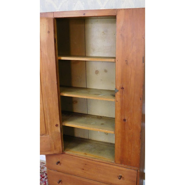 Antique 19th-Century American Pine Cabinet - Image 7 of 11