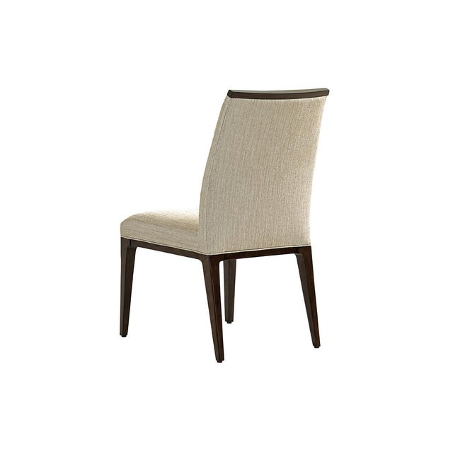 The Collina dining chairs offer a clean contemporary design approach, featuring a horizontal lumbar channel and a...