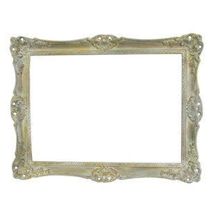 Antique French Farmhouse Gilt Painted Frame