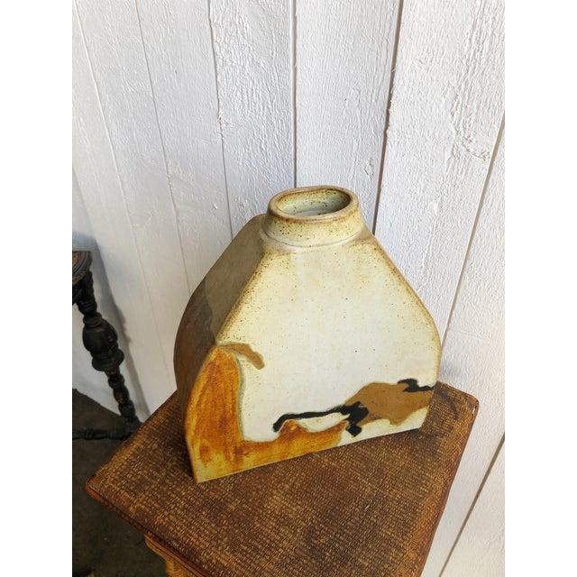 Studio Pottery Slab Vase For Sale - Image 4 of 8