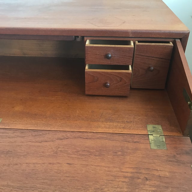 Desk - Mid-Century Modern Secretary Desk - Image 4 of 10