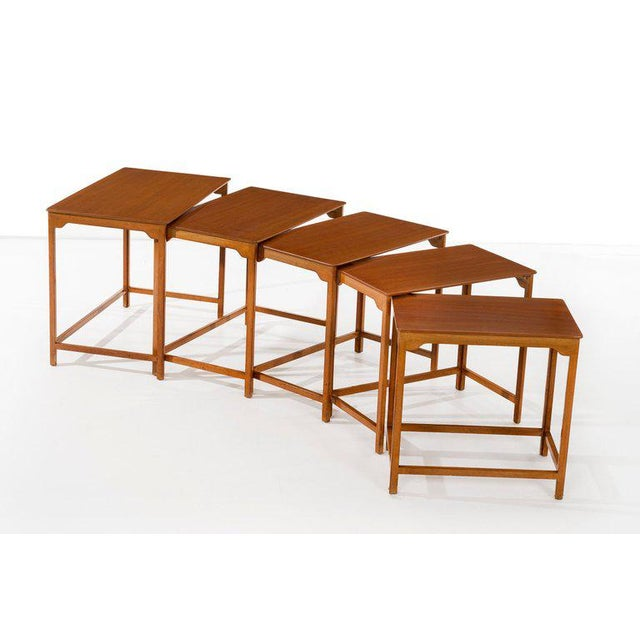 Mid-Century Modern Edward Wormley Nesting Tables For Sale - Image 3 of 7