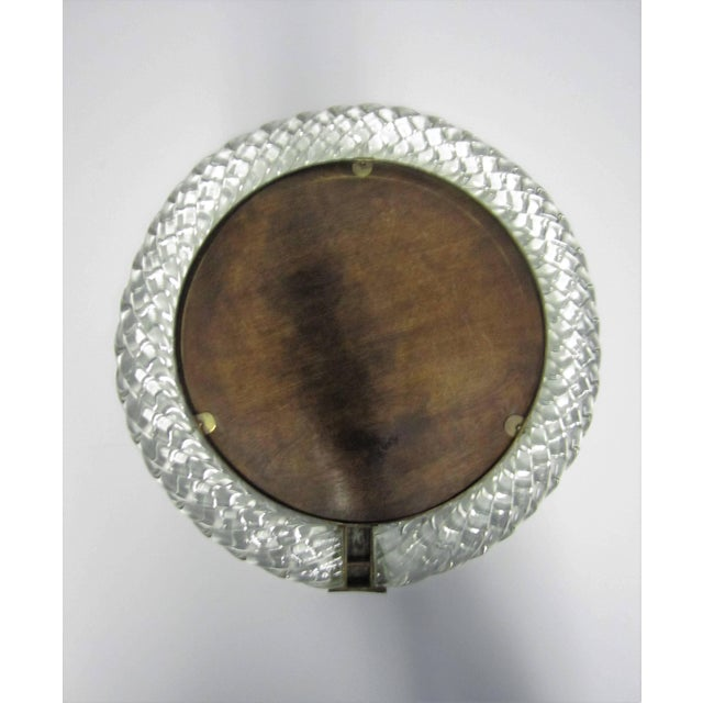 Italian Murano Art Glass and Bronze Wall or Vanity Mirror For Sale In New York - Image 6 of 10