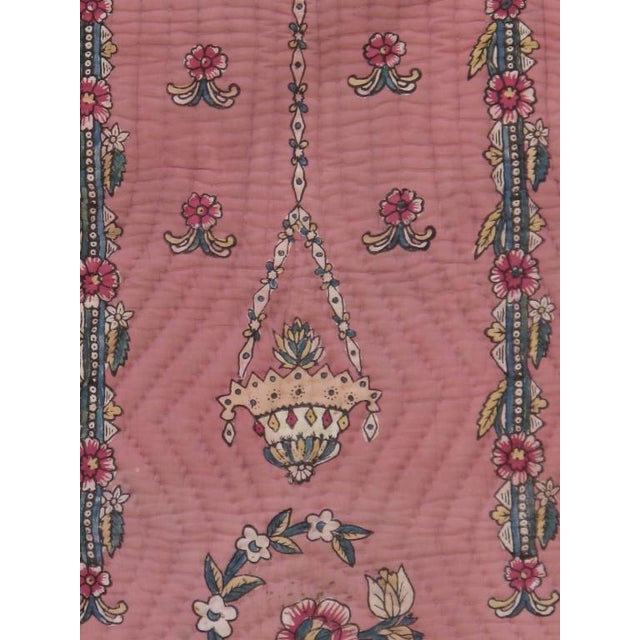 Traditional Quilted Prayer Rug For Sale - Image 3 of 10