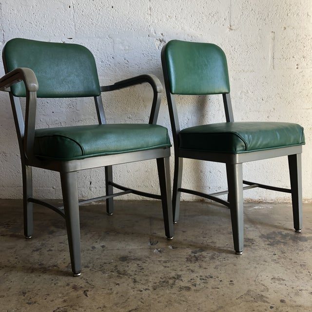 Vintage Office Industrial Chairs by Techfab Furniture Missouri (A Pair) For Sale - Image 13 of 13