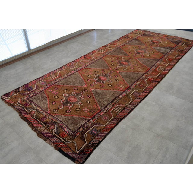Hand Knotted Natural Colors Tribal Rug - 5′3 ″ x 13′1″ - Image 3 of 10