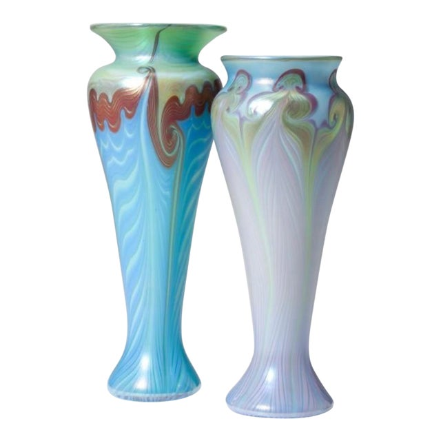 Vandemark Art Glass Vases- Set of 2 - Image 1 of 5
