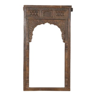 Antique Anglo-Indian Carved Teak Archway For Sale