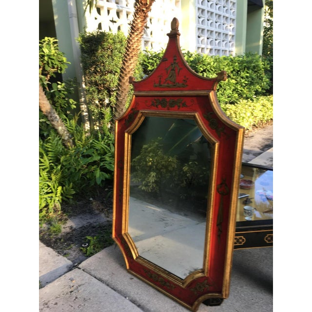 Vintage Florentine Pagoda Mirror For Sale - Image 4 of 6