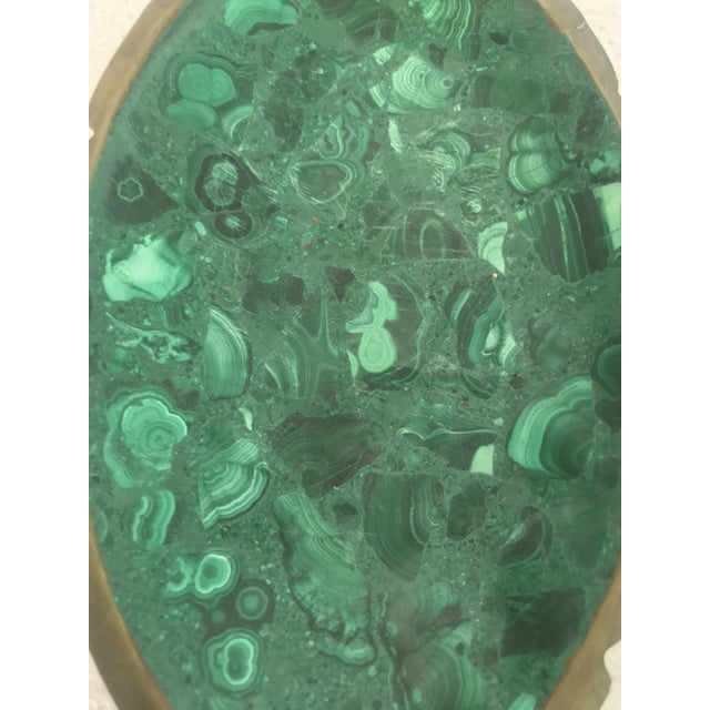 Malachite and Brass Ashtray Catchall For Sale In Los Angeles - Image 6 of 10