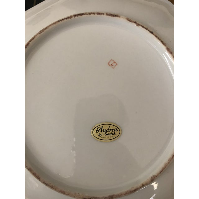 Mid 20th Century Andrea by Sadek Chinoiserie Purple Plate For Sale - Image 5 of 8