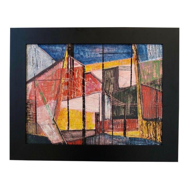 Paul Arthur Lingren Gouache Painting, 1953 For Sale