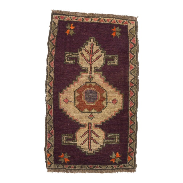 Vintage Turkish Kars Rug - 2′1″ × 3′4″ For Sale