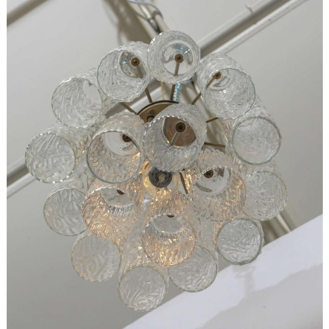 """Glass Pair of Italian Modern Venini """"Tronchi"""" Chandeliers For Sale - Image 7 of 8"""