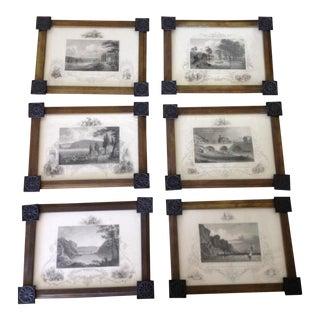 Early 20th Century Antique New York and Philadelphia Etchings - Set of 6 For Sale