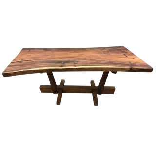 Conoid Dining Table With Free Edge Top For Sale