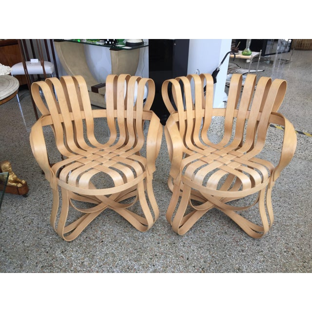 """Cross Check"" Bentwood Armchairs by Frank Gehry for Knoll 1993 - a Pair For Sale - Image 13 of 13"