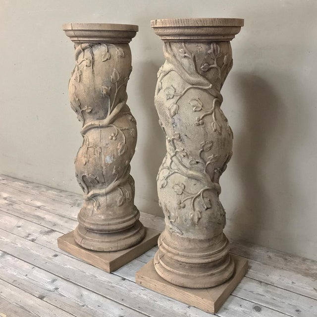 Pair 19th Century Barley Twist Stripped Pedestals For Sale - Image 4 of 13