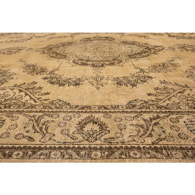 "1960s Apadana - Vintage Persian Tabriz Rug, 9'10"" X 12'7"" For Sale - Image 5 of 7"
