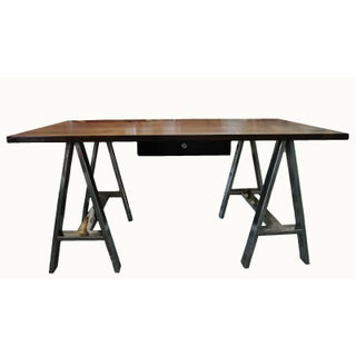 Danish Mid Century Modern Rosewood & Chrome Writing Office Desk Preview