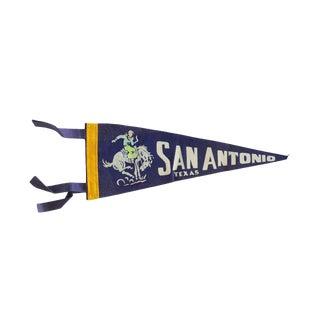 Vintage San Antonio Texas Felt Flag Pennant For Sale