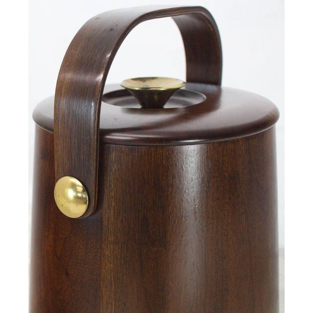 American Walnut Danish Modern Style Ice Bucket with Lid For Sale In New York - Image 6 of 8