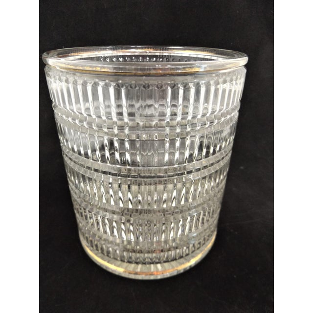 "This classic ice bucket will look terrific in any décor. Measures 5 3/4"" diameter and 6 1/2"" tall, the shape and pattern..."