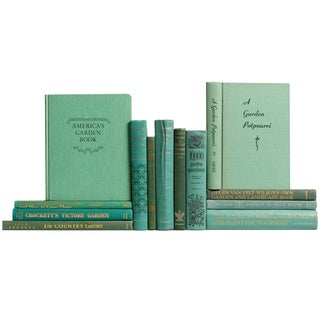 Vintage Green Gardening Library - Set of 13