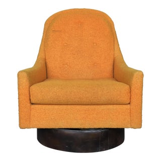 Mid-Century Modern Adrian Pearsall Style Swivel Barrel Back Chair For Sale