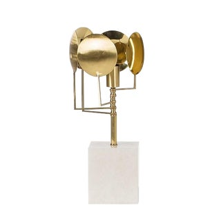 Modern Brass Sun Table Lamp For Sale