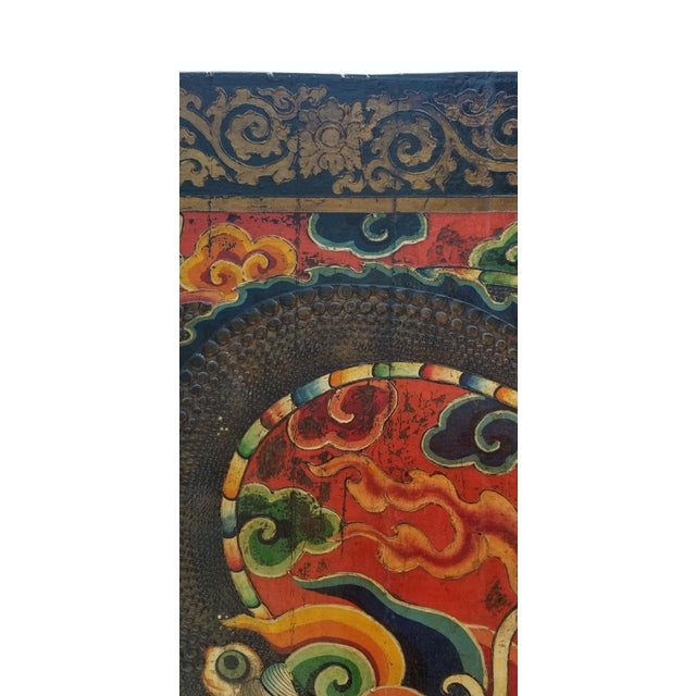 Late 19th Century Late 19th Century Antique Tibetan Monastery Door For Sale - Image 5 of 12