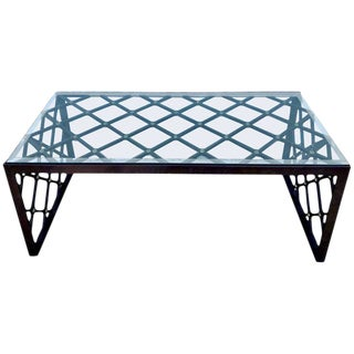 "Royere Style ""Tour Eiffel"" Bronze Coffee Table For Sale"