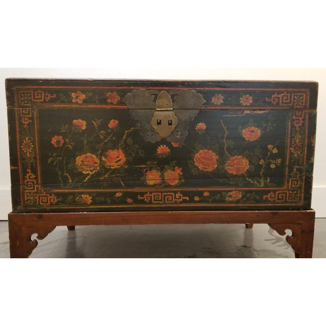 Asian Chinese Trunk on Stand For Sale - Image 3 of 13