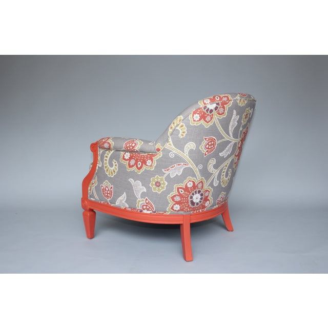 Coral Amp Floral Upholstered Chair Chairish
